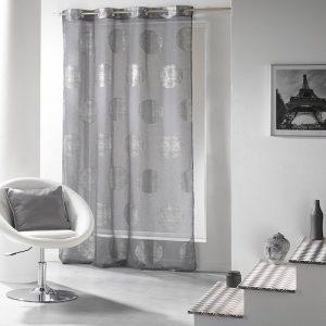 Cortina moderna gris de salón 100% poliester