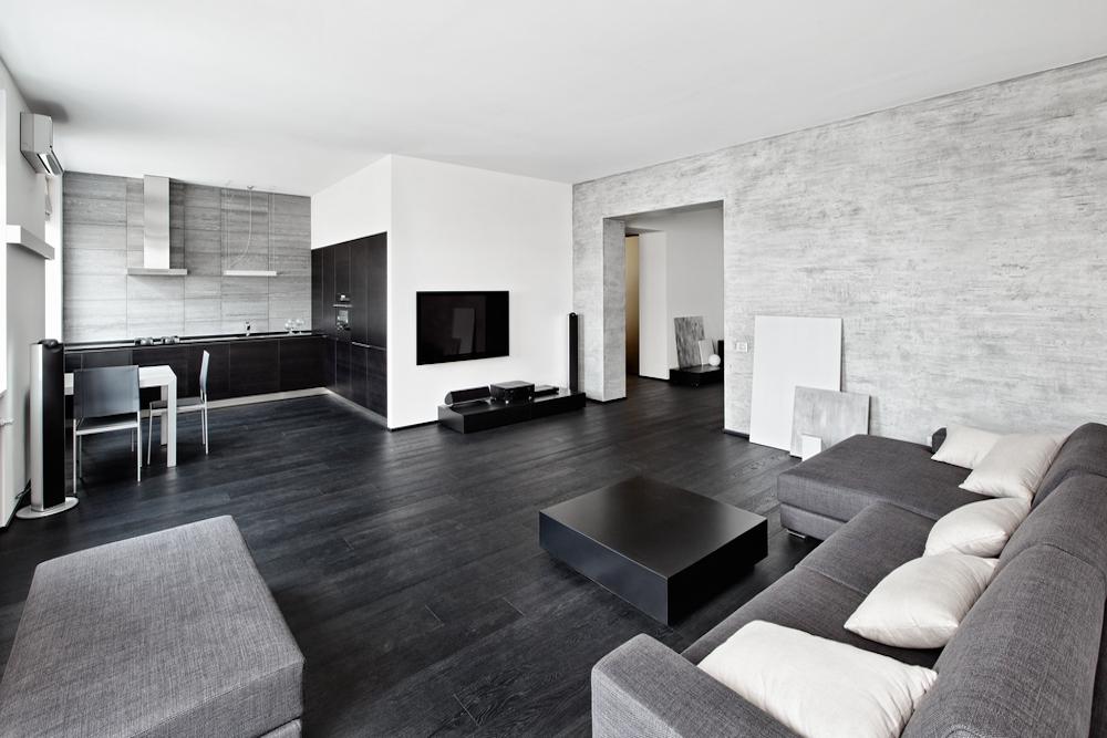 Ideas de cortinas para salón gris y blanco
