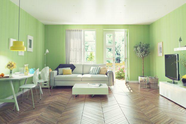 Ideas para elegir las cortinas para paredes verdes for Cortinas verdes para salon