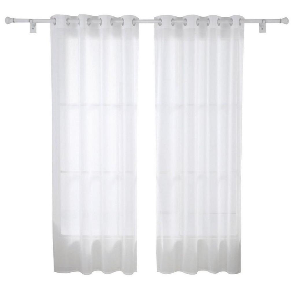 Cortina de sal n moderna con anillas en blanco cortinas de sal n modernas - Anillas de cortinas ...