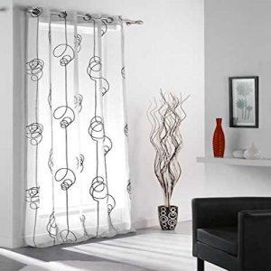 Cortinas de salón modernas blanco y negro