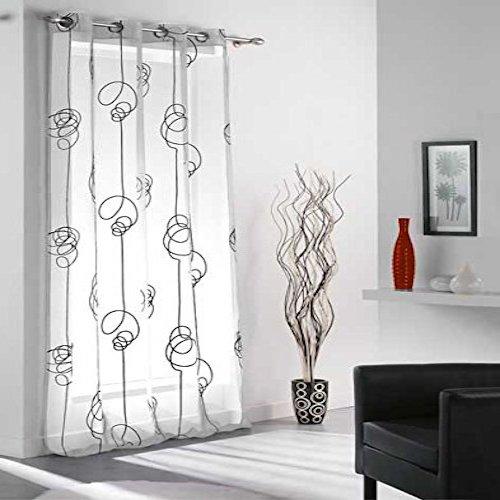 cortinas de saln modernas blanco y negro - Cortinas Salon