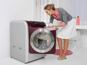 lavar las cortinas en la lavadora