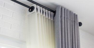 colgar cortinas sin hacer agujeros